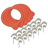 COM-FOUR ® Set di accessori per dessert Occhiali–6Anelli di gomma (53/67mm) e 12mollette