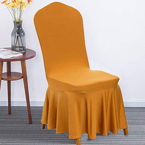 Xiaobyyao tessuto bianco dell'hotel elasticizzato fiori universali di orata,coprisedie con schienale pezzi elasticizzato copertura della sedia bi-elastico per una misura