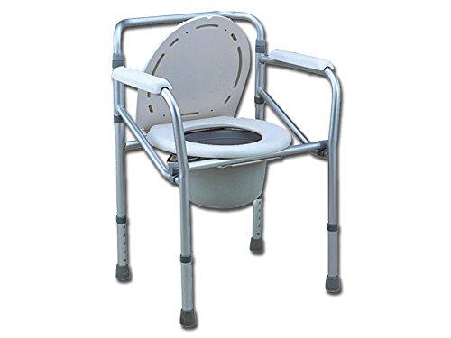 GIMA Comoda WC-doccia, rialzo WC, altezza regolabile 45-55 cm