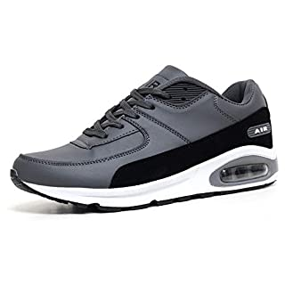 Mens Legacy Air Bubble Max 90 Running Trainers Airtech Fitness Sports Gym Shoes Size 7 8 9 10 11 12 (8 UK, Grey / Black)