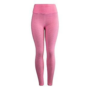 EUZeo Frauen Einfarbig High Waist Yoga Hosen Bauch Kontrolle Abnehmen Beute Leggings Lift Strumpfhosen Damen Sporthose Sport Tights Sportswear Style Elastic Yoga Hosen Trainingshose