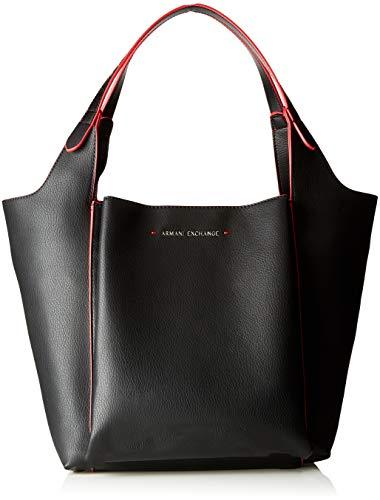 Armani Exchange - One Strap Shoulder Bag, Shoppers y bolsos de hombro Mujer, Negro (Nero), 28.0x20.0x42.0 cm (B x H...