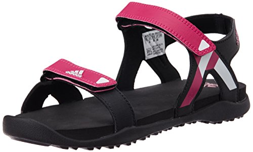 adidas Women's Orso W Black, Pink and White Athletic and Outdoor Sandals - 4 UK  available at amazon for Rs.2099