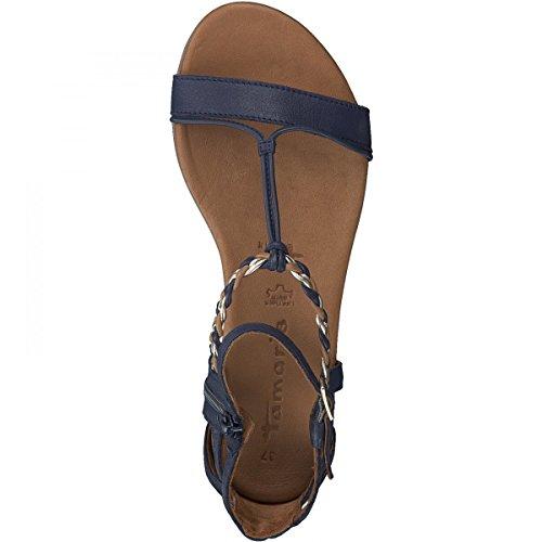 Tamaris Donna 28043 Sandali Con Il Cinturino Blu (pettine Blu Scuro)