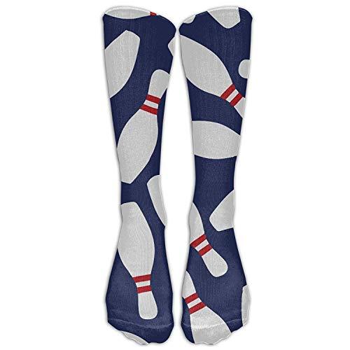 Juziwen GoKJ Unisex Athletic Bowling Skittle Long Socks (Long ()