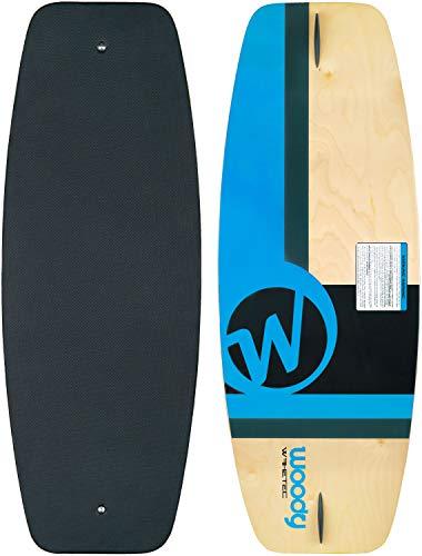 MESLE WAKETEC Wakeskate Woody 43'', 110 cm Eva Flat-Deck Board bis 95 kg, blau, skaten ohne Schuhe