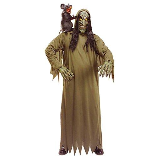 NET TOYS Zombie Hexe Kostüm Hexenkostüm Untote Halloweenkostüm Alte Frau Horrorkostüm Zauberin Faschingskostüm Oma Kostümset