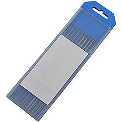 """2% Cérium WC20 Gris TIG Electrode Tungstene 6"""" Taille Assortie 6"""" x1/16"""" & 6""""x3/32"""", 10pcs"""