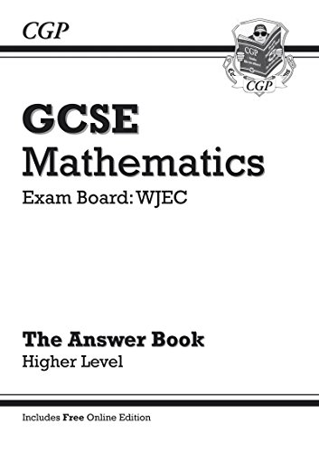 GCSE Maths WJEC Answers for Workbook with Online Edition - Higher (A*-G Resits)