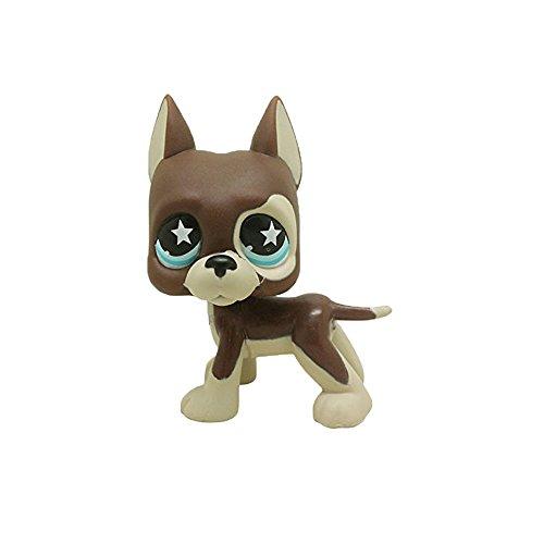 BZLine LPS Tier Haustier Katze Sammlung Kind Mädchen Junge Figur Spielzeug Lose Nette Collie Hund Seltene Tan Braun Kurze Haare Katze Herz Gesicht Katze (# 25) -