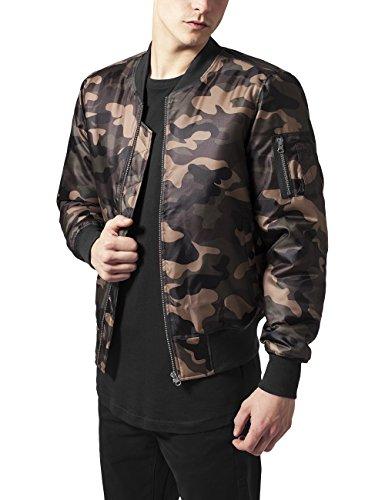 Urban Classics Herren Jacke Camo Basic Bomber Jacket, Mehrfarbig (Wood Camo 396), Medium