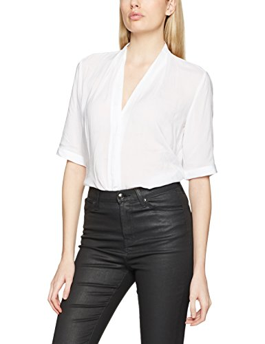 Benetton Loose Fit, Blouse Femme Blanc (White)