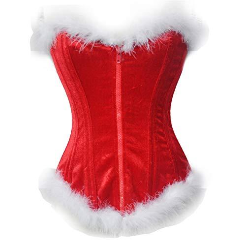 MAIMOMO Erotische Baby Dolls & Negligees Weihnachtsuniform Festliches Weihnachtskorsett Erscheinen Miniweihnachten, 6676, S