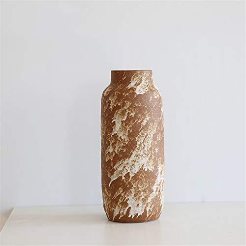 Xin Pang Vase Schlicht Und Modern Retro Tontopf Jingdezhen Ceramic Home Stock Grosse Vase Dekoration Wohnzimmer Blumenarrangements, M, Höhe 31 cm Breite 11 cm