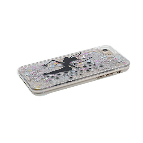 "iPhone 6S Coque, Skin Hard Clear étui iPhone 6 / 6S, Marguerites- Design Glitter Bling Sparkles Shinny Flowing iPhone 6 Case Shell Cover 4.7"", résistant aux chocs et Bouchon anti-poussière # 7"