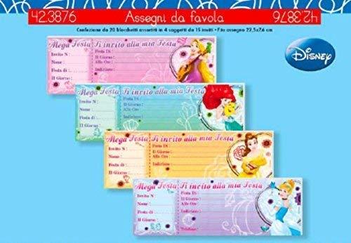 1 Stück Zündschloß Schlampermäppchen Checkbook ab 15 Einladungen Geburtstag Disney Prinzessinnen 1 Wählbar