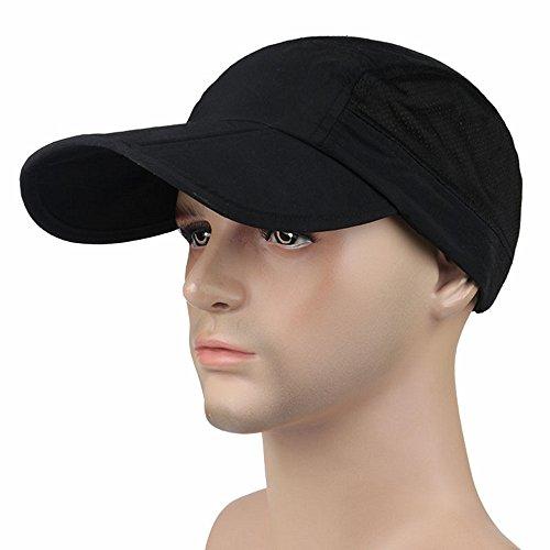 Faltbares Design mit Atmungsaktive Mesh Outdoor Sport-Kappe, Chreey Baseballmütze Männern Frauen Mode Sonnenhut [Schwarz] (70er Jahre Mode Australien)