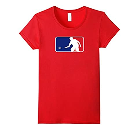 Women's Disc Golf Shirt Baseball Logo / Red White Blue, USA Gift T Medium Red