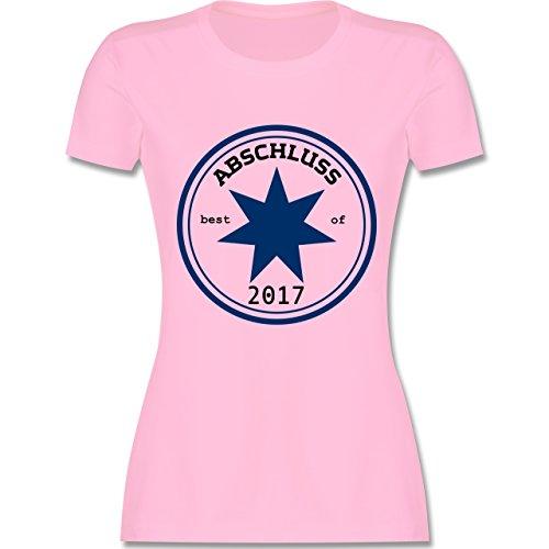 Abi & Abschluss - Abschluss 2017 - tailliertes Premium T-Shirt mit Rundhalsausschnitt für Damen Rosa