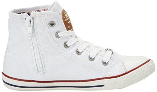 Mustang 5803-503, Sneakers Hautes Mixte Enfant Blanc (1 Weiß)
