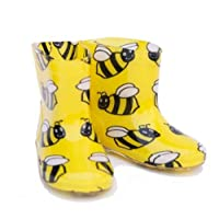 Bee design trendy kids wellies