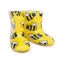 Bee design trendy kids wellies