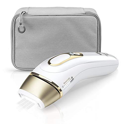 Braun PL5014 Silk-expert Pro 5 Epilatore Luce Pulsata, IPL, Epilazione Definitiva, Bianco/Oro