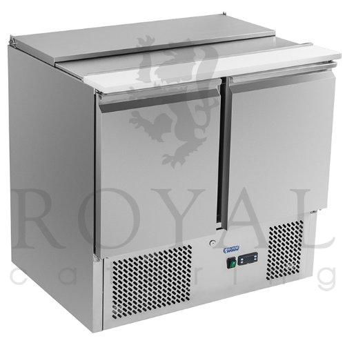 Royal Catering - Kühltisch RCKT-90/70S - 215 Watt Leistung - 240 Liter Rauminhalt - Kühltemperatur von 0°C - 10°C