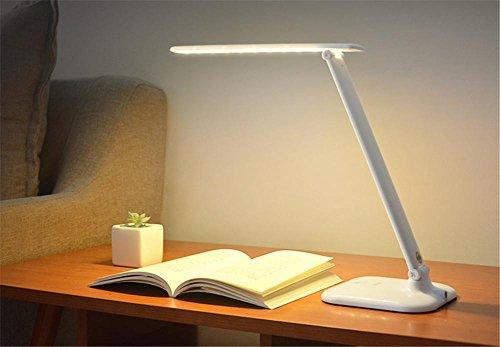 LUCKY CLOVER-AWeihnachten Kinder Geschenk Falten Portable Dimmable Nachttisch Licht IntelliSense Kontrolle wiederaufladbare 3-stufige Dimmer LED Schreibtisch Lampe Dekoration (USB-Port)