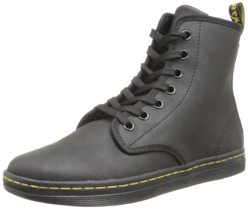 Dr Martens  Shoreditch Greasy Lamper,  Stivali donna Nero (Noir (Black))