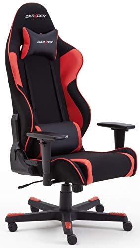 Robas Lund 62561NR4 DX Racer R1 Gaming-/ Büro-/ Schreibtischstuhl, 64 x 125 x 68 cm, schwarz/rot