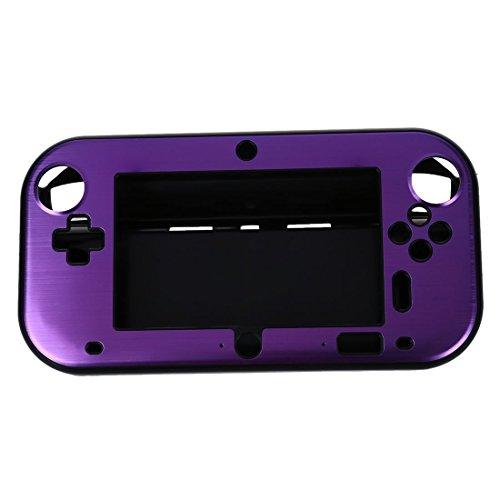 SODIAL(R) Aluminio de la Caja Cubierta para Nintendo Wii U Mango de Controladores Remotos de juegos - purpura (sin paquete por menor)