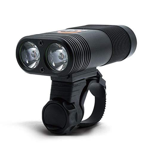 LED Fahrrad Licht, Starklicht Taschenlampe, Batterie 1800mAH, 360 ° drehbare Schnellwechselhalterung, mit Power Display.-black -
