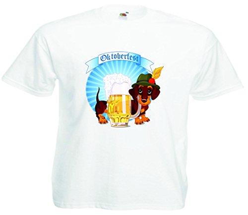 T-Shirt Oktoberfest Wiesn München Junggesellenabschied für Frauen Männer und Kinder in allen Größen XS bis 4XL oder Kinder 104 bis 164 Motiv Nr.68 Herren-Weiß