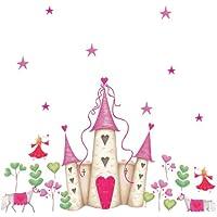 Jomoval, RoomMates, Adesivo grande da parete, motivo: Castello da principessa - Aula Garden Set
