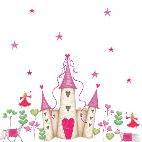 RoomMates - Riesenwandsticker Prinzessinnen-Schloss (Poster-betten, Möbel)