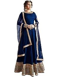 Riyan Enterprise Blue Color Latest Designer Party Wear, Traditional Anarkali Style Salwar Suit Set With Dupatta...