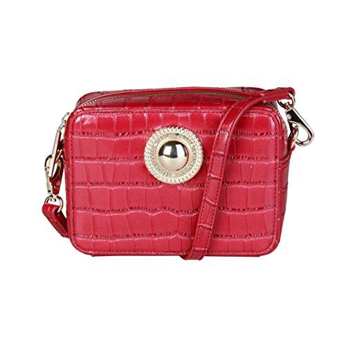 Versace Leder Jeans (Versace Jeans E1VQBBGB_75456 Damen-Clutch Unterarmtasche Leder Rot)