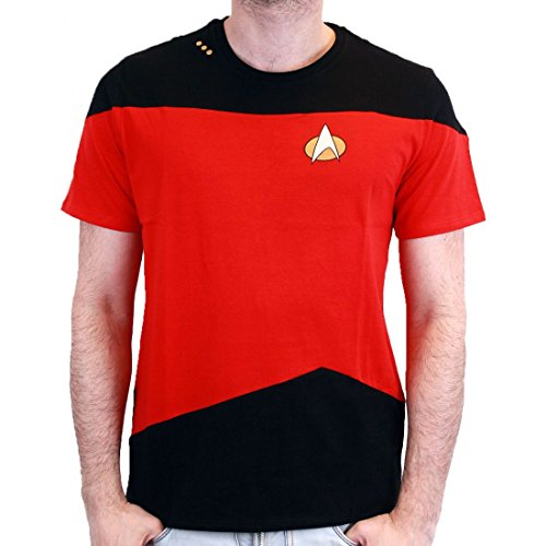 STAR TREK - T-Shirt NEXT GENERATION Red Uniform (XXL) : TShirt , ML (Generation Next Uniform Shirt)