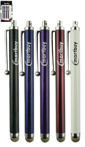 emartbuyr-bundle-pack-of-5-mixed-colours-mesh-fibre-ultra-responsive-touchscreen-stylus-pen-adatto-p