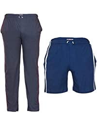 TeesTadka Men's Cotton TrackPants For Men And Shorts For Men Combo Offers Pack Of 2 - B01N9JY6YL