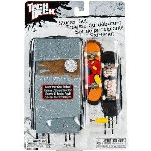 Tech Deck – 22537 – 96 mm Fingerboard – Starter Set – 'Toy Machine' – mit 2 Fingerboards, Aufbewahrungs Case und Tool