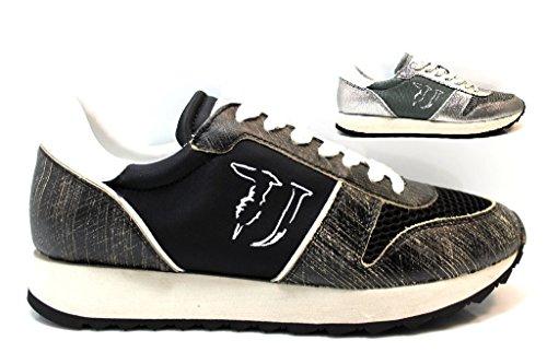 Trussardi Jeans 79S045 Grigio e Nero Sneakers Donna Scarpa Sportiva