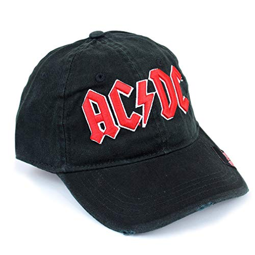 AC/DC Herren Baseball Cap - Logo Kappe Schwarz/Rot