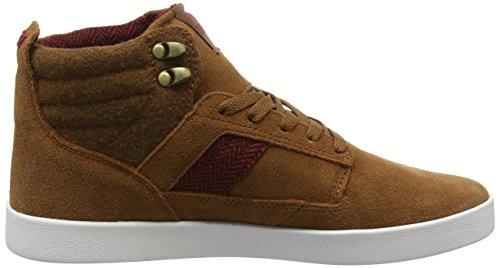 Supra BANDIT, Sneaker alta uomo Marrone (Braun (BLACK / PLAID - WHITE 240))