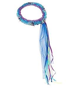 DREAMY DRESS-UPS 50379Azul con Flores Corona (Talla única)