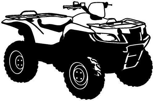 Samunshi® ATV Autoaufkleber Quad Gelände in 8 Größen und 25 Farben (15x9,8cm schwarz)