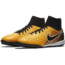 Nike Jr Magistax onda II DF TF–Scarpe da calcetto, Unisex bambini, Bambino, JR MAGISTAX ONDA II DF TF, arancione, 35.5