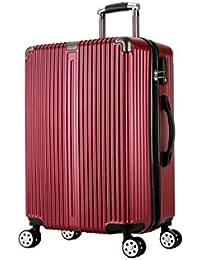 6030462410 Aishanghuayi Valigia per conchiglia vintage guscio rigido con decorazione a  forma di lucchetto TSA (oro rosa)…