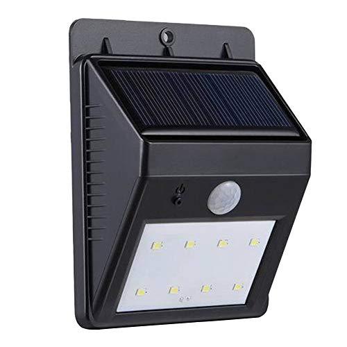 pittospwer Solarleuchte für Außenbereiche Bewegungssensor Wasserdicht PIR mit LED-Bewegungssensor One Size schwarz